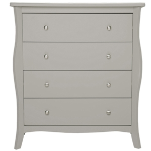 JB - Johnston - Assembled Curved Grey Painted Bedroom Furniture Range