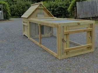 Campbell Duck or Waterfowl House with Run - Campbell duck house for 6 ducks with 6 foot run -  Choice of sizes
