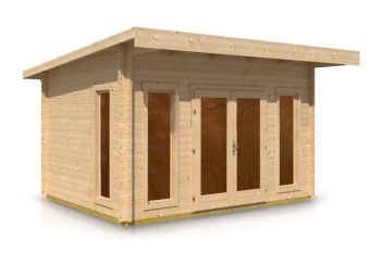 Pent Style Roof Log Cabin 3.1m x 4.2m x 44mm