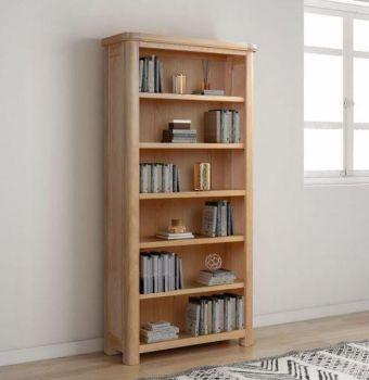 Bologna Oak Bookcase 900 x 1800