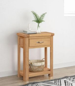 Bologna Oak Small Console with 1 Drawer