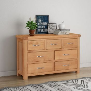 Bologna Oak 3 Over 4 Chest of Drawers
