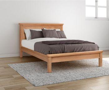 Bologna Oak 4 ft 6in Panel Bed