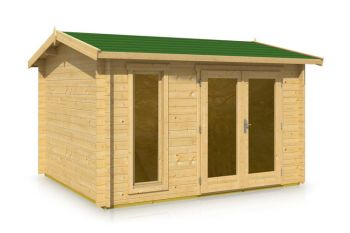 Apex Style Roof Log Cabin 3.66m x 3.16m x 44mm
