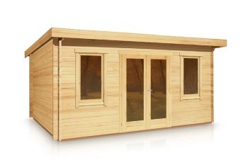 Budget Pent Style Roof Log Cabin 3.0m x 4.0m x 44mm