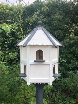 Hintlesham Dovecote, Traditional English Hexagonal Two Tier Nesting Box - Bird House For Up to 6 Pairs of Doves