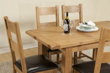 Shrewsbury Dining table with 1 extension 120-153 x 80