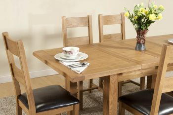 Shrewsbury Dining table with 2 extensions 132 -198 x 90