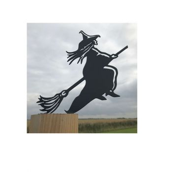 Witch Broomstick Fence Topper