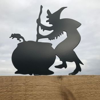 Witch Cauldron Fence Topper