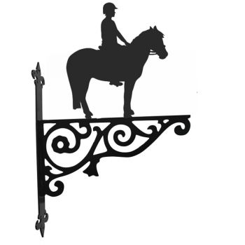Pony and Rider Ornamental Hanging Bracket