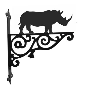 Rhino Ornamental Hanging Bracket