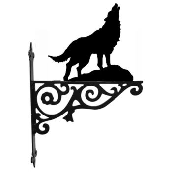 Wolf Ornamental Hanging Bracket