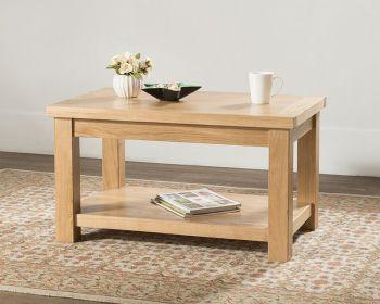 Sienna Standard Coffee Table with Shelf