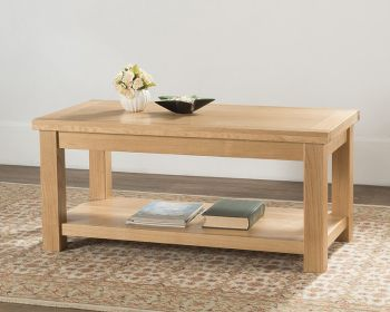 Sienna Large Coffee Table with Shelf
