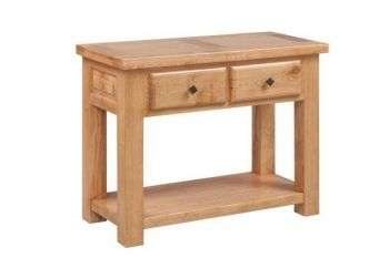 Rome Console Table with 2 Drawers & Shelf