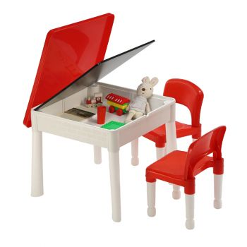 Multipurpose 6-In-1 Activity Table and 2 Chairs Set