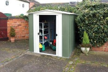 6' x 5' Metal Apex Shed with sliding doors