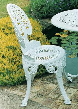Coalbrookdale Chair British Made, High Quality Cast Aluminium Garden Furniture