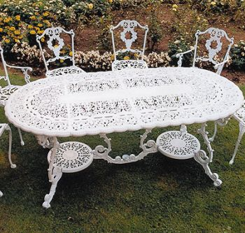 Victorian Grand British Made, High Quality Cast Aluminium Garden Furniture