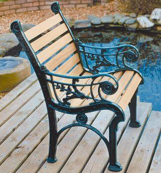 Edwardian Chair British Made, High Quality Cast Aluminium Garden Furniture