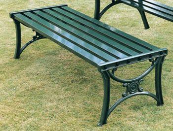 Edwardian Form Bench British Made, High Quality Cast Aluminium Garden Furniture