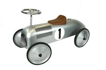 Classic Racer Ride On Car - Silver