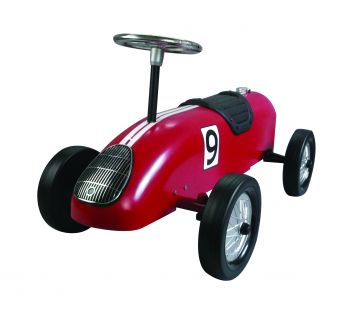 Retro Racer Ride On Car - Red