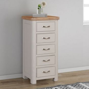 Bologna Painted Tall Chest with 5 Drawers