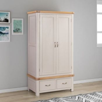 Bologna Painted Double Wardrobe with 2 Drawers