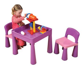5 in 1 Multipurpose Activity Table & 2 Chairs - Purple