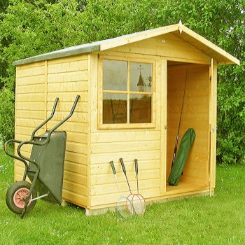 Abri Single Door Tongue and Groove Garden Shed Workshop Approx 7 x 7 Feet