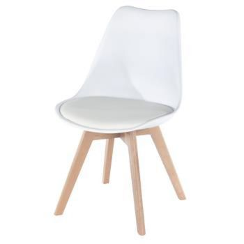 Aspen Padded Seat Chair White