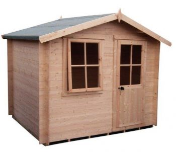 Avesbury Log Cabin Home Office Garden Room Approx 8 x 8 Feet