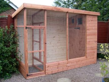 Buttercup All Weather Outdoor Bird Aviary Pet Cage 8' x 4' plus 2' safety porch