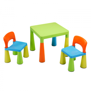 Children's Table & Chairs Set - Multicoloured