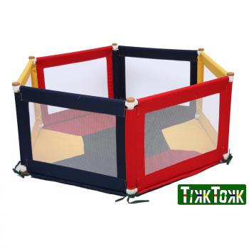 POKANO Fabric Playpen & Mat - Hexagonal - Colourful