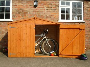 Bike Store Apex Shiplap Garden Bicycle Shed with floor