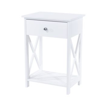 Options White Painted Vermont, 1 Drawer Bedside Cabinet
