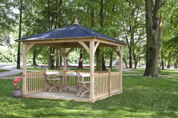 Cotswold Canopy with Floor & Balustrade (3.26 x 3.26m)