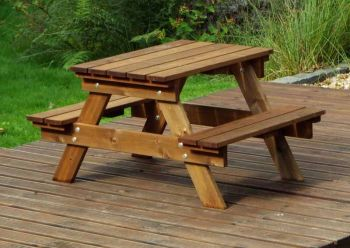 Kids Picnic Table Gold - Fully Assembled