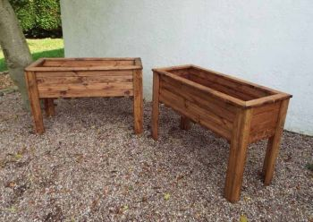 2pc Large Wiltshire (Raised) Trough Set - Fully Assembled