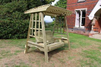 Antoinette Garden Swing Seat - Seats Two, wooden garden swinging seat hammock