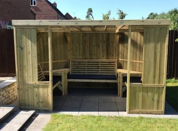 Buttercup Garden Room Shelter - Open Sided Summerhouse - Assembly included