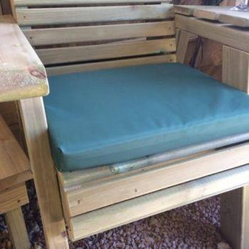 Waterproof Seat Pads - Single Green Cushion