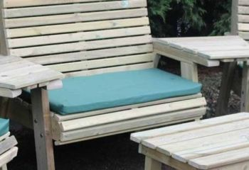 Waterproof Seat Pad - Triple - Green Cushion