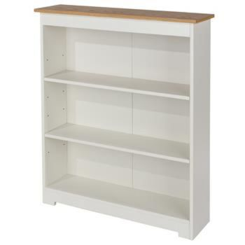Colorado Soft Cream Painted Low Wide Bookcase