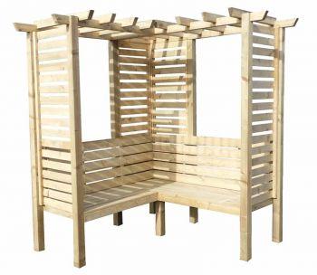 Clematis Corner Arbour Garden Arch Seat Approx 6 x 6 Feet