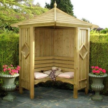 Classic Corner Arbour Garden Arch Seat Approx 4 x 4 Feet