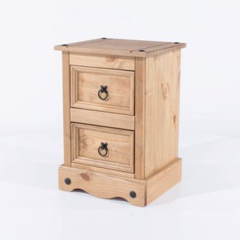 Corona 2 Drawer Petite Bedside Cabinet